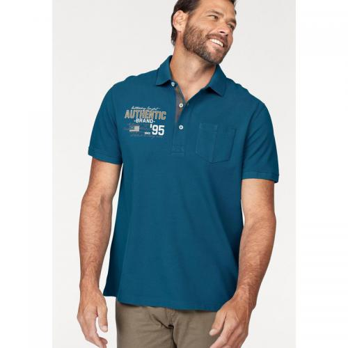 Man's World - Polo manches courtes Man's World - Bleu Pétrole - T-shirt / Polo Imprimé