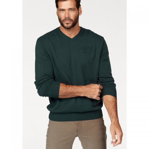 Man's World - Pull col V manches longues Man's World - Vert Sapin - Pulls homme