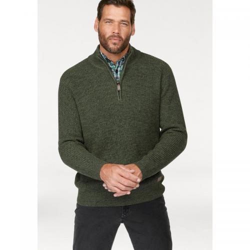 Man's World - Pull col camionneur homme Man's World - Gris - Vert - Pull / Gilet / Sweatshirt