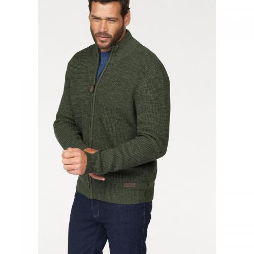 Man's World - Gilet zippé manches longues en maille Man's World - Vert - Pull / Gilet / Sweatshirt
