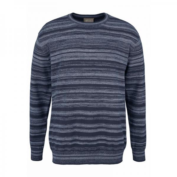 Pull col rond homme Man's World - Bleu Man's World