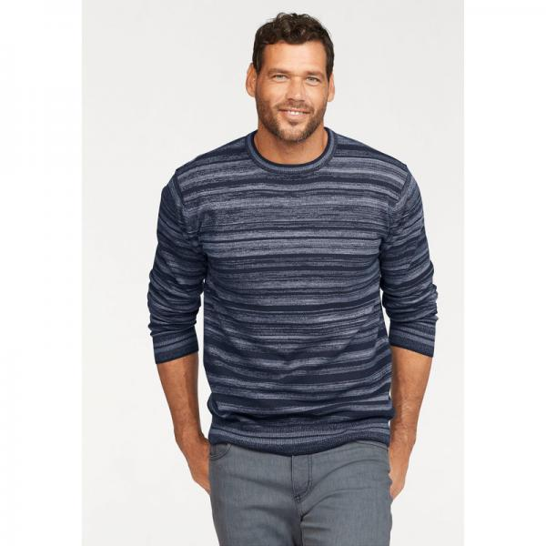 Pull col rond homme Man's World - Bleu Man's World Homme