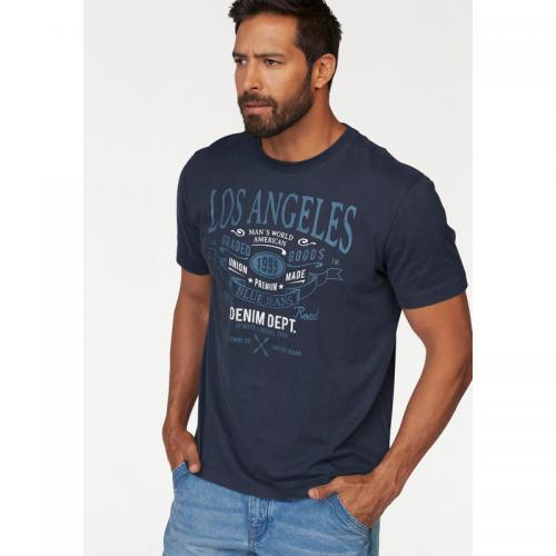 Man's World - T-shirt imprimé col rond manches courtes homme Man's World - T-shirt / Polo Imprimé