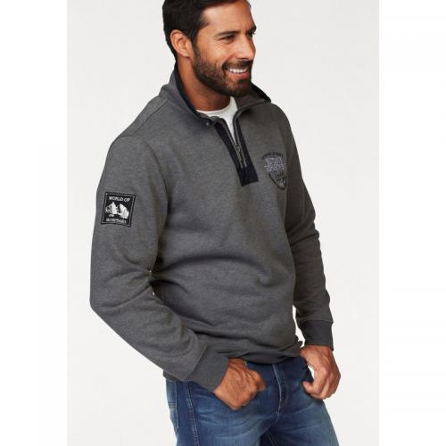 Man's World - Sweat manches longues col montant zippé fantaisie homme Man's World - Multicolore - Promos vêtements homme