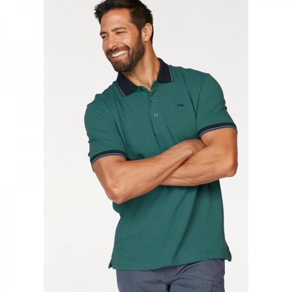 Polo finitions contrastées manches courtes homme Man's World - Vert Émeraude Man's World Homme
