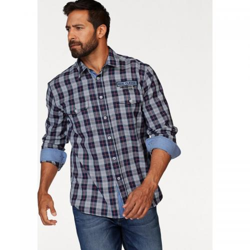 Man's World - Chemise à carreaux homme Man's World - Bleu - Rouge - Chemises homme