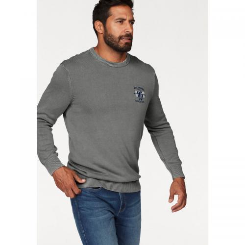 Man's World - Pull col rond manches longues homme Man's World - Gris - Pull / Gilet / Sweatshirt