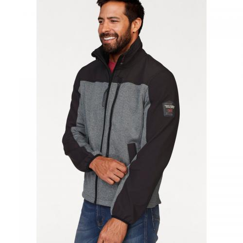 Man's World - Sweat-shirt Softshell zippé col montant homme Man's World - Noir - Gris - Pull / Gilet / Sweatshirt