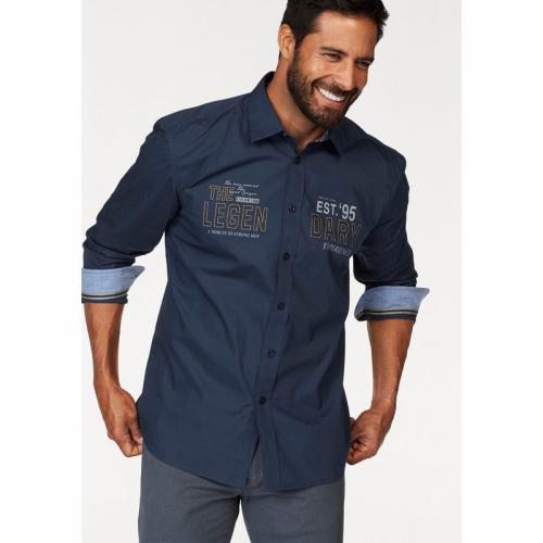 Chemise manches longues homme Man's World - Marine Man's World Homme