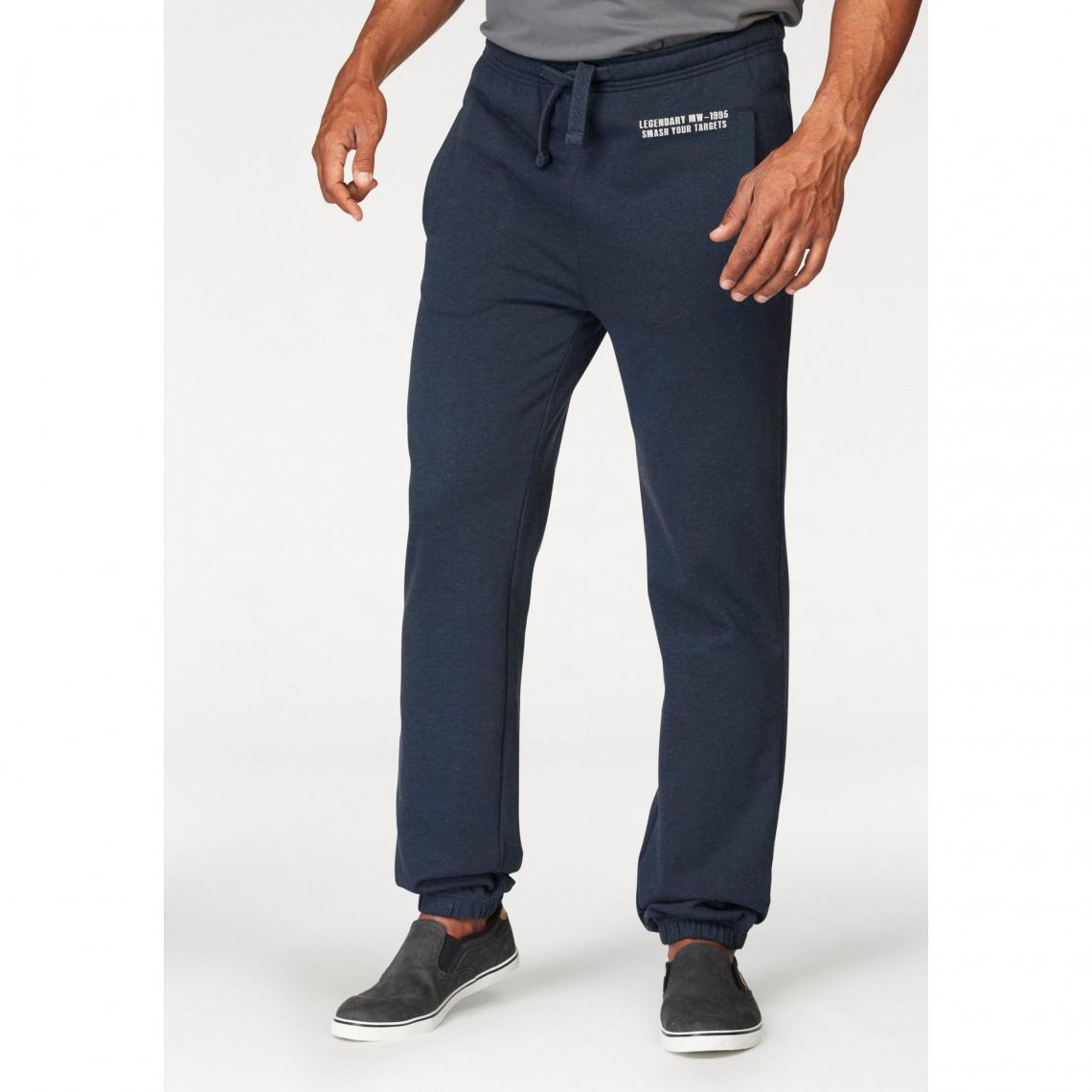 4111309f727 Pantalon de jogging taille élastiquée homme Man s World - Marine Man s  World Homme