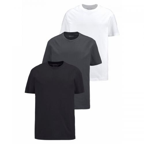 Man's World - Lot de 3 t-shirts manches courtes Man's World - Noir - T-shirt / Polo