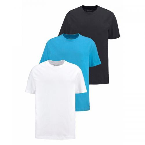 Man's World - Lot de 3 t-shirts manches courtes Man's World - Bleu - Promos vêtements homme