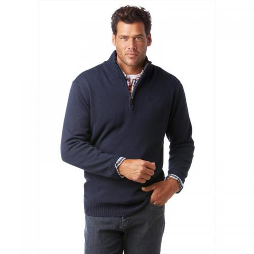Man's World - Sweat homme col camionneur - Bleu - Pull / Gilet / Sweatshirt