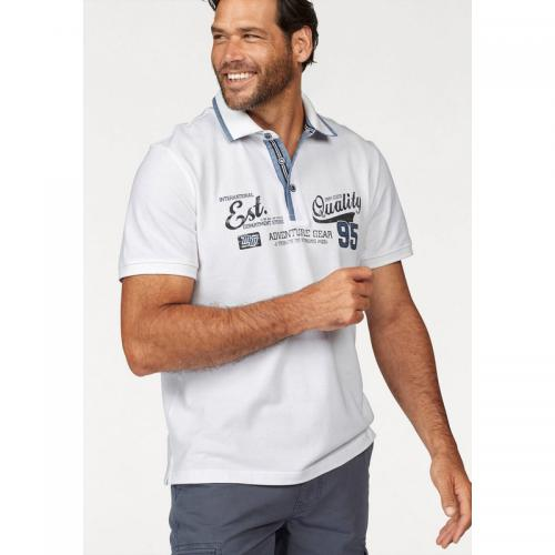 Man's World - Polo manches courtes homme Man's World - Blanc - T-shirt / Polo Imprimé