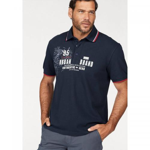 Man's World - Polo en maille piquée homme Man's World - bleu foncé - T-shirt / Polo
