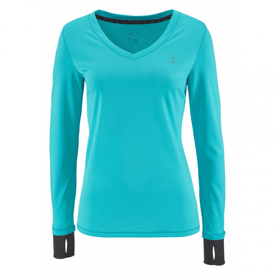 5e3098e1a47f4 T-shirt de sport manches longues femme Maria Höfl-Riesch - Bleu | 3 ...