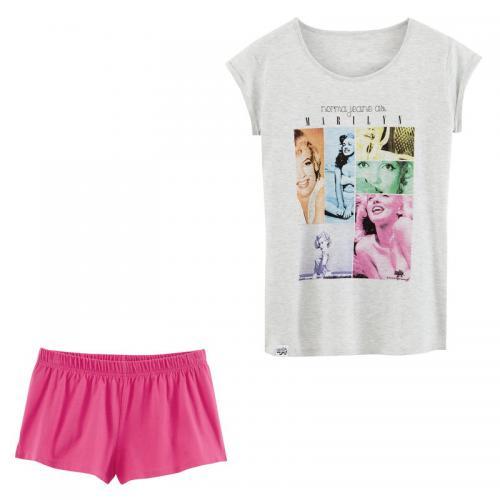 Marilyn - Pyjashort fille imprimé Marilyn en 2 pièces - Gris - Pyjamas femme b222fd9e1f7
