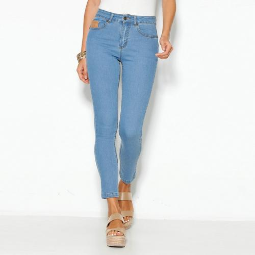 1f04869027ad 3 SUISSES - Jean skinny 5 poches taille haute femme - Bleu Ciel - Jeans  taille
