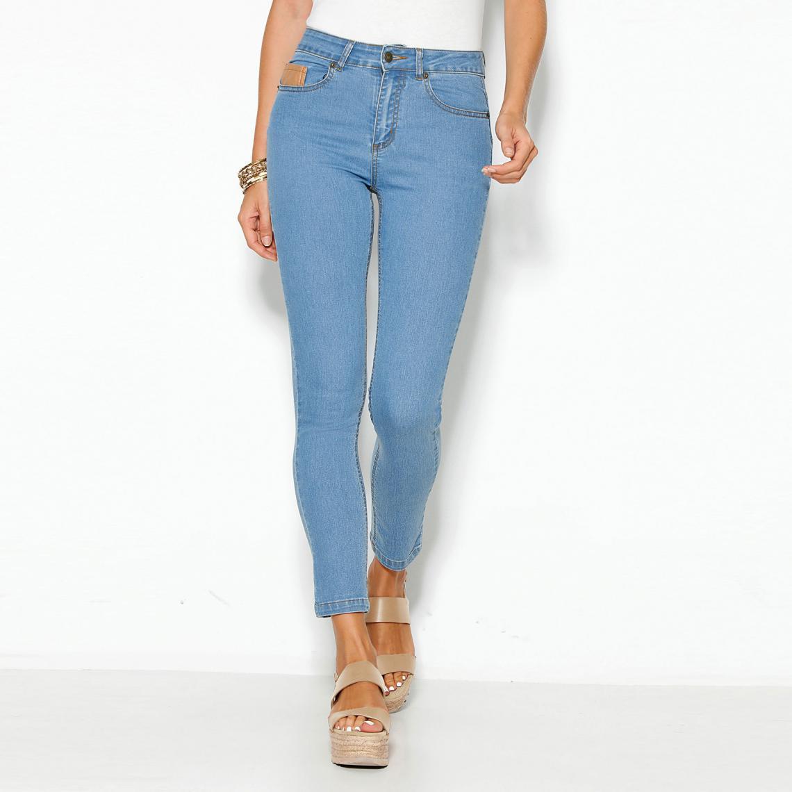 6f2211338c53 Jean skinny 5 poches taille haute femme - Bleu Ciel 3 SUISSES Femme