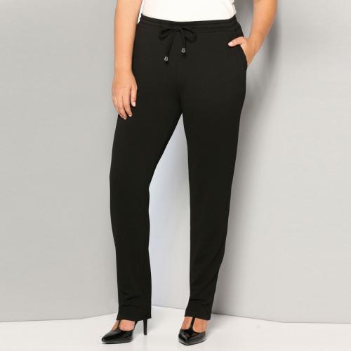 baa1aa17aa3d 3 SUISSES - Pantalon taille élastique et cordon poches grandes tailles femme  - Noir - Pantalons