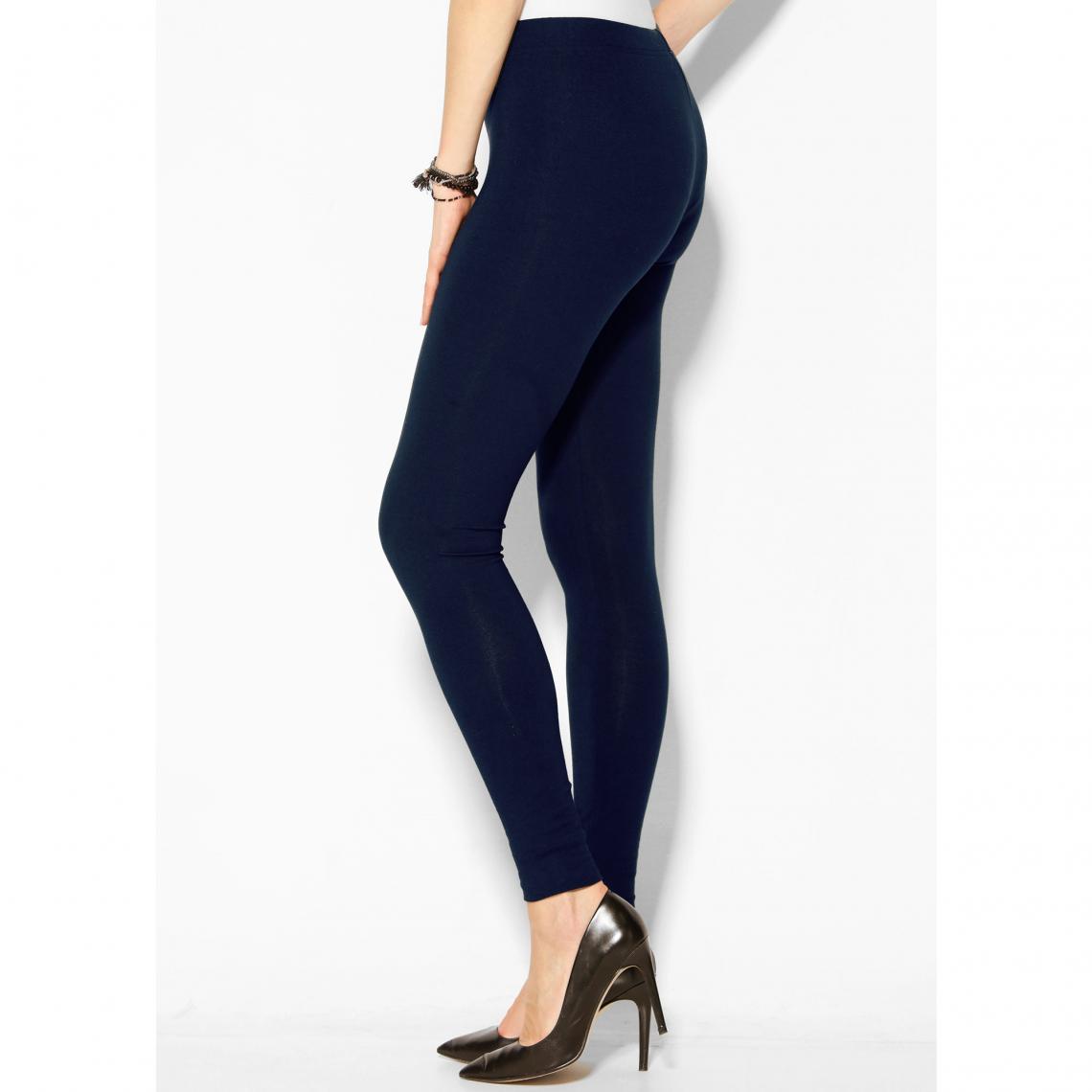 Legging uni sans coutures taille élastique femme Bleu 40 Avis Plus de détails