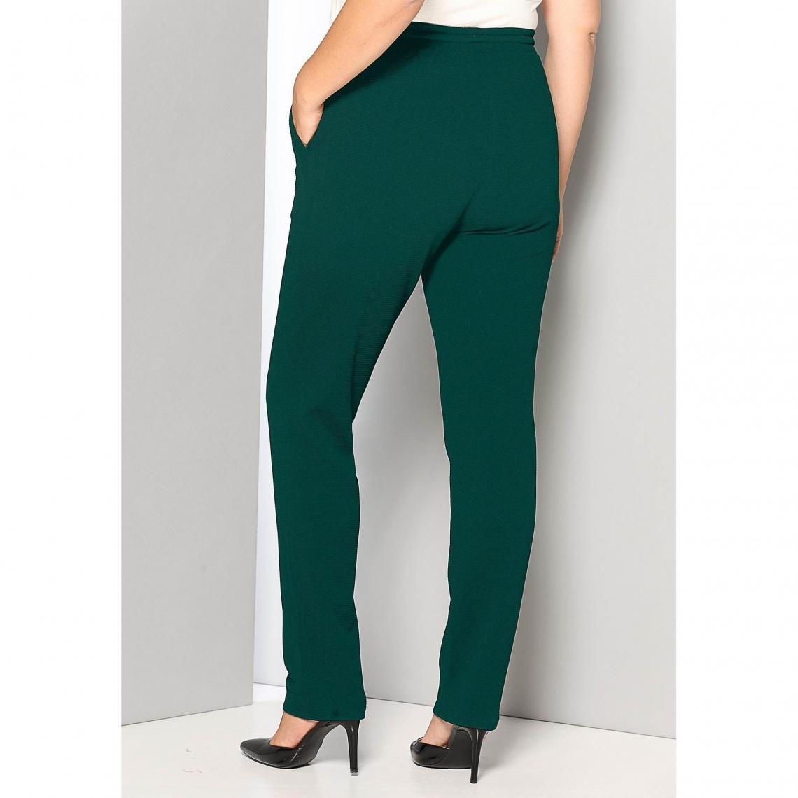 29ab118a7ac Pantalon taille élastique et cordon poches grandes tailles femme - Vert  Émeraude 3 SUISSES