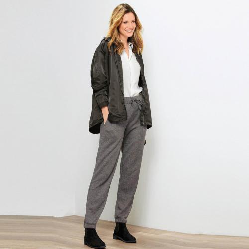 Pantalon En Élastiqués Molleton Femme Bas Gris Cordon Anthracite 9IWEH2YD