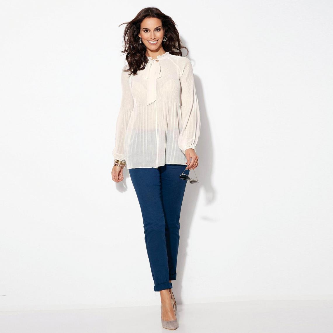 Pantalon élastique taille haute 5 poches - Noir - 3 SUISSES - Modalova