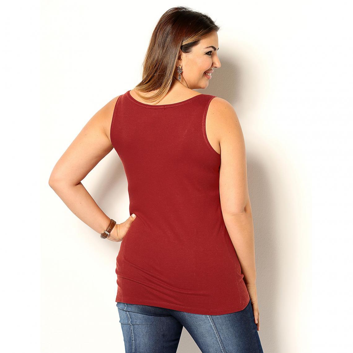 982b0cfb74a88 Tee-shirt larges bretelles encolure arrondie femme - Rouge | 3 SUISSES