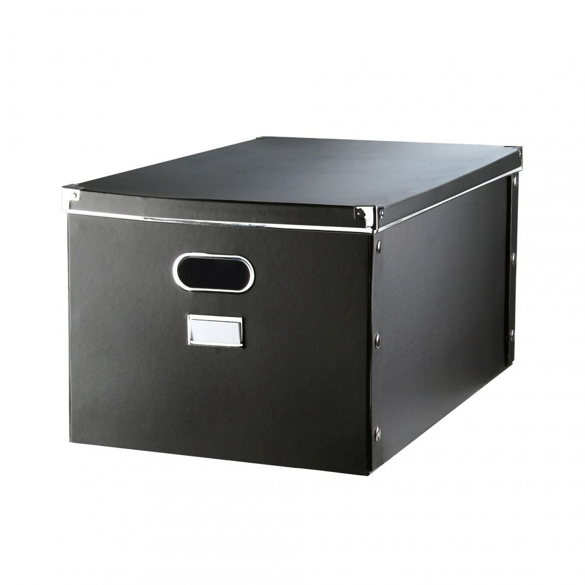 boîtes en carton gm petit modèle - noir   3suisses