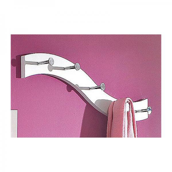 porte manteau mural design 5 pat res blanc 3 suisses. Black Bedroom Furniture Sets. Home Design Ideas