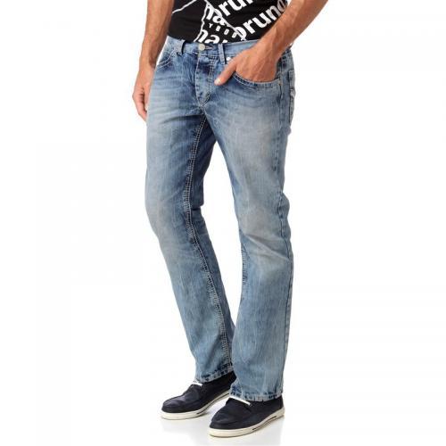 3 Suisses - Jean bootcut taille basse délavé homme Carlos Bruno Banani -  Bleu Ciel - 847e4e1a607d