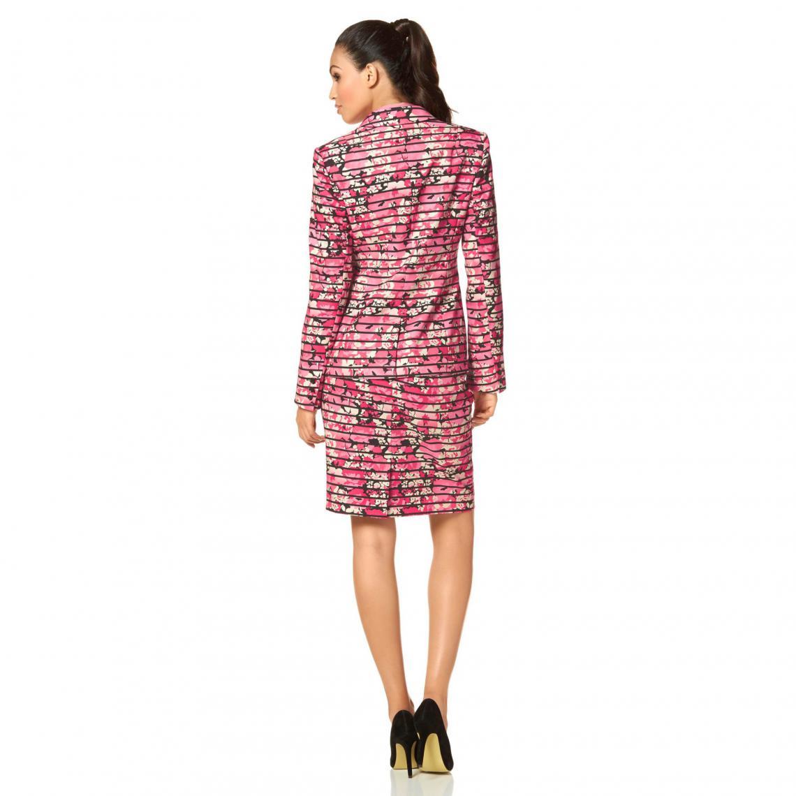 aea1f627ccb8d9 Veste tailleur manches longues motif floral femme Bruno Banani ...