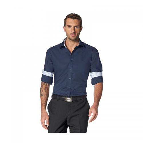 3 SUISSES - Chemise Business Bruno Banani homme - Bleu - Promotions Homme