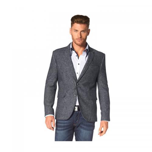 16bc3103b1aac 3 SUISSES - Veston lin et coton Bruno Banani homme - Bleu - Nouveautés  vêtements homme