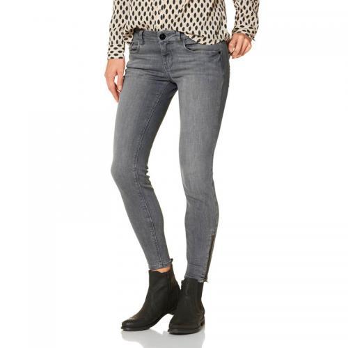 877606475727 3 Suisses - Jean skinny 78 zippé aux chevilles femme Tom Tailor - Gris -  Jeans