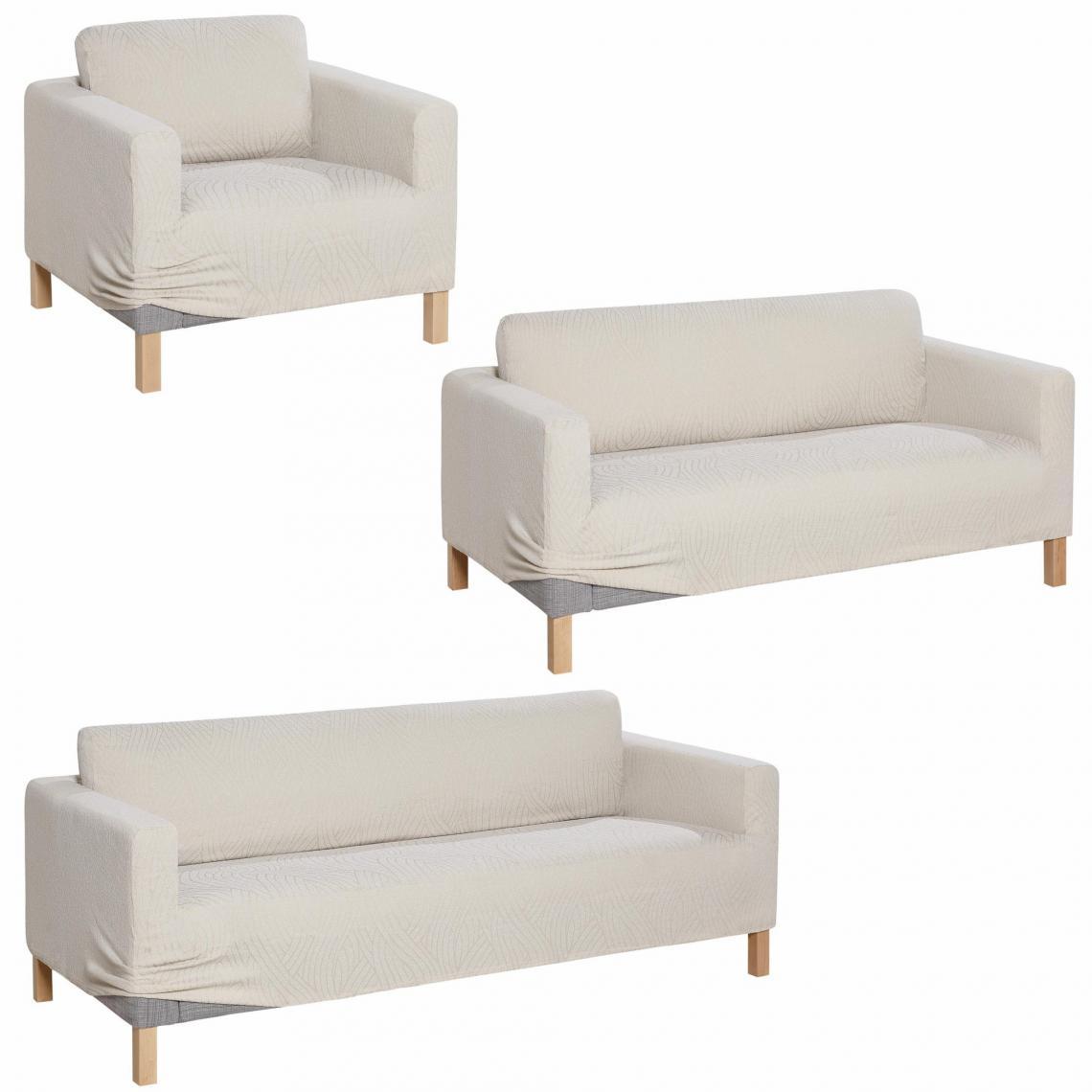Ensemble de housses bi extensibles pour fauteuil canap - Housse canape 3 places extensible ...