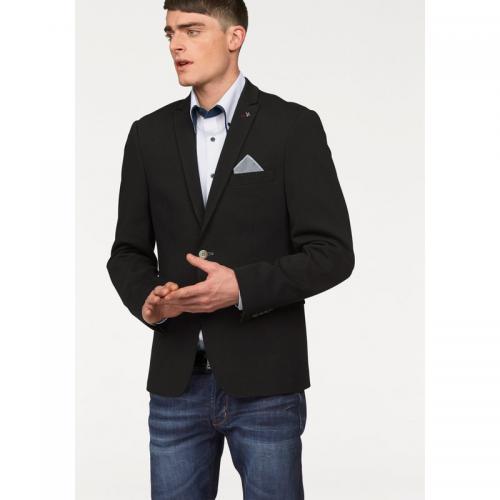 5c6c87f9295f3 3 SUISSES - Veste de costume en jersey homme Bruno Banani - Noir - Costume
