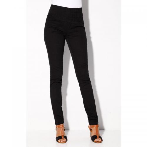3S. x Collection (Nos Imprimés) - Pantalon tregging en twill noir femme - Legging