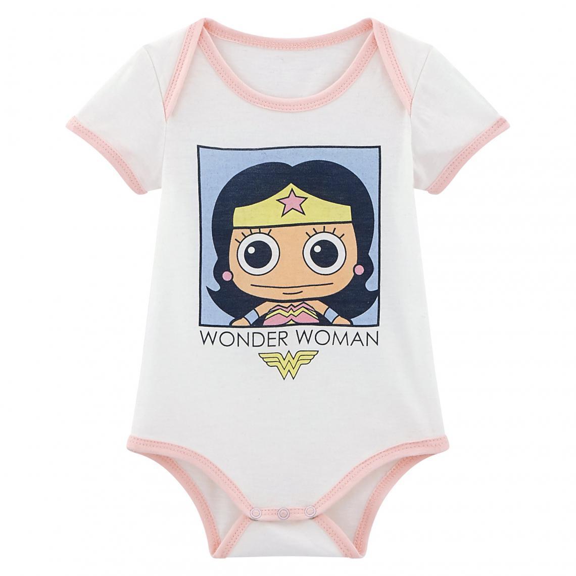 Body Wonder Woman bébé - Blanc 3 SUISSES Enfant b065be432a1