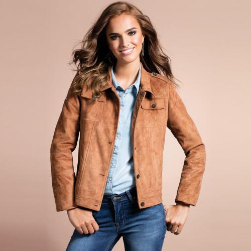 Les 3 suisses veste cuir femme