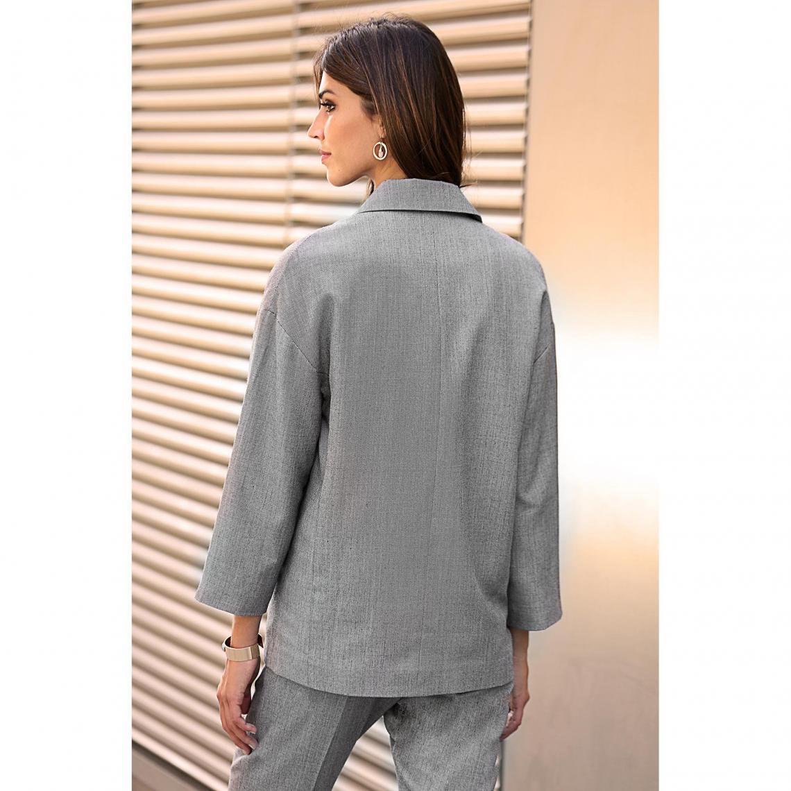 d88ed2191a13c Veste tailleur femme Exclusivité 3SUISSES - Gris   3Suisses