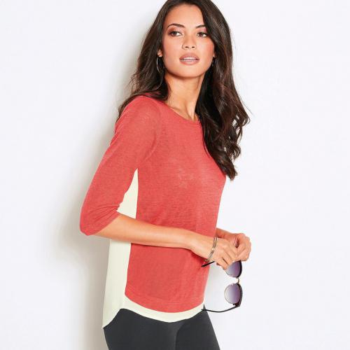 3 SUISSES - Tee-shirt femme - Orange - T-shirt / Débardeur