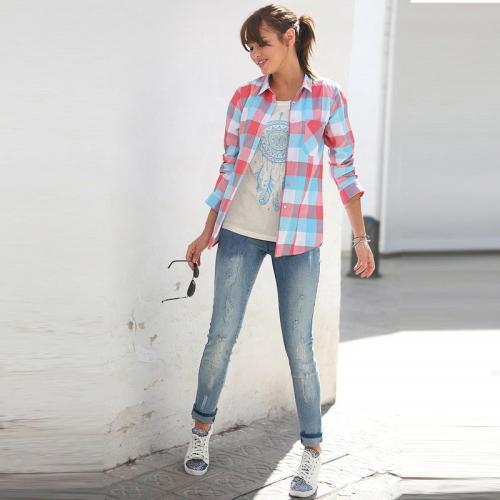 3b8f3e862147 3 Suisses - Jean femme Exclusivité 3SUISSES - Bleu - Jeans taille regular  femme