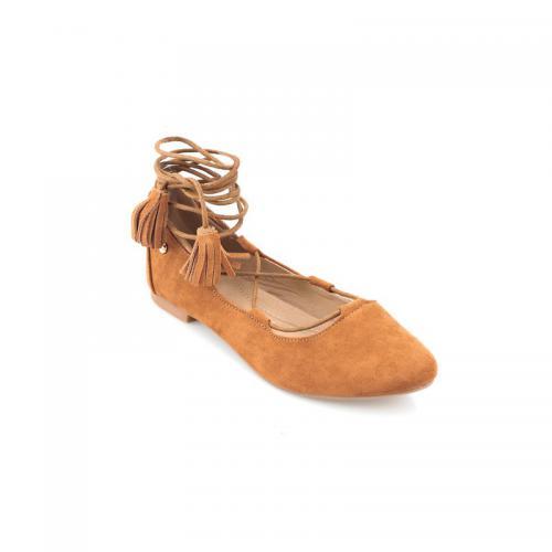 3 Suisses - Ballerines femme Exclusivité 3SUISSES - Camel - Chaussures femme 287507a180a9