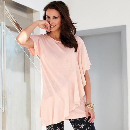 3 SUISSES - Tee-shirt femme - Rose - T-shirt manches courtes