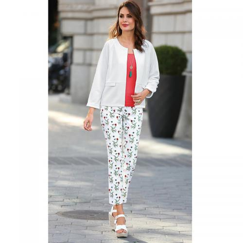 8f2d9d98c81da 3 Suisses - Pantalon taille élastique femme Exclusivité 3SUISSES - Imprimé  - Pantalons imprimés femme