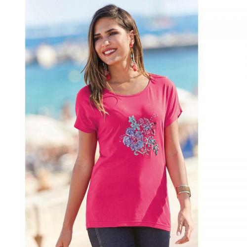 3 SUISSES - Tee-shirt manches courtes femme - Rose