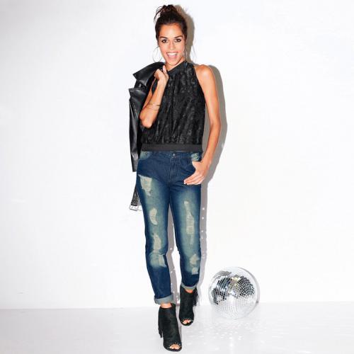 237c2dc914a8 3 Suisses - Jean Exclusivité 3SUISSES - Bleu - Promotions Jeans femme
