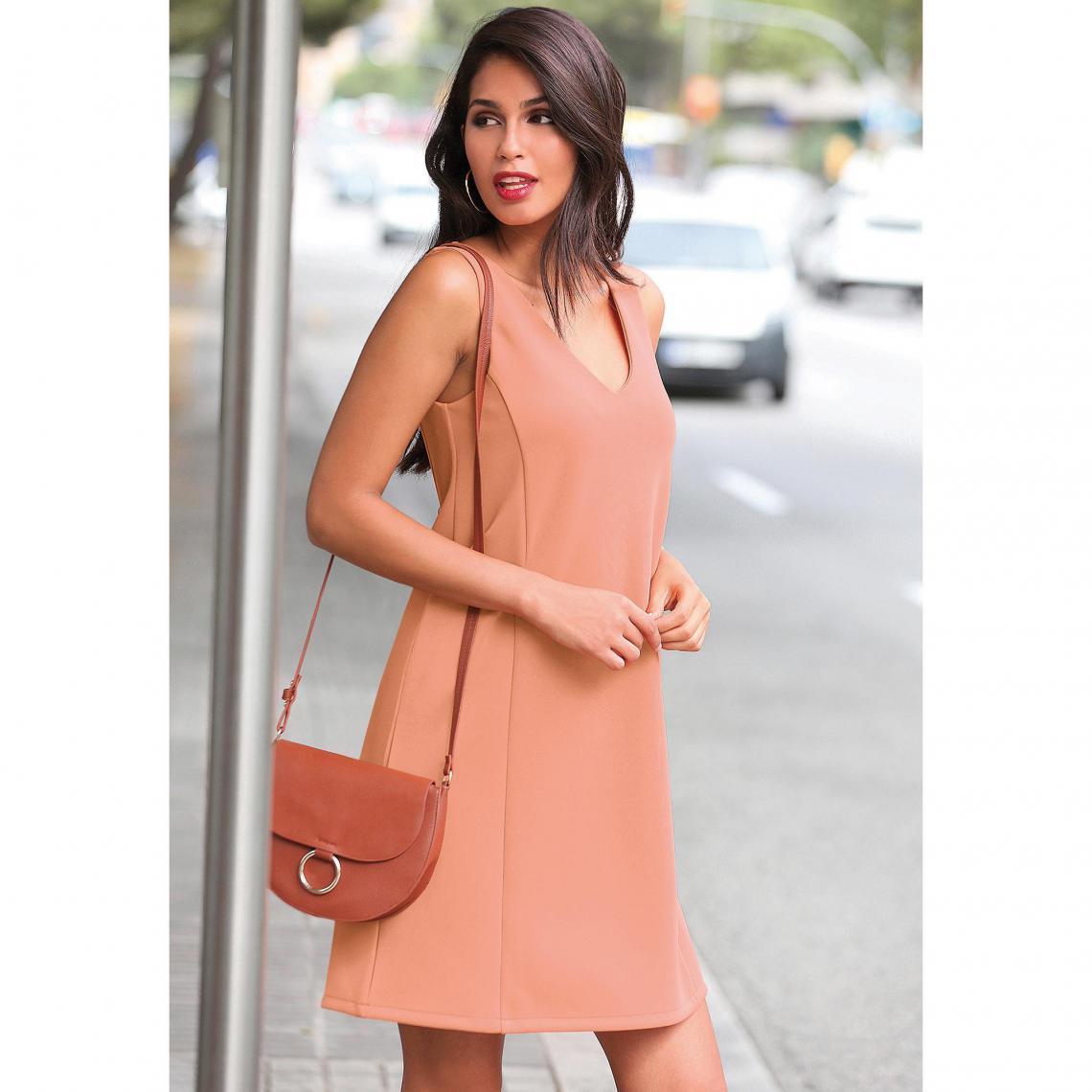 Robe courte femme - Orange - 3 SUISSES - Modalova